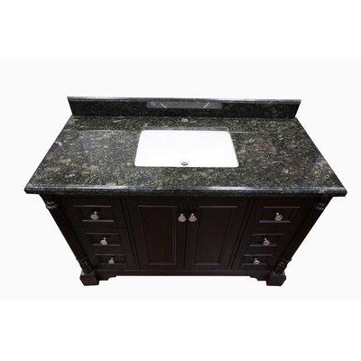 Hargreaves Modern 48 Single Bathroom Vanity Set Top Finish: Emerald Marble