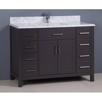 Prestwick Traditional 48 Single Bathroom Vanity Set Base Finish: Gray