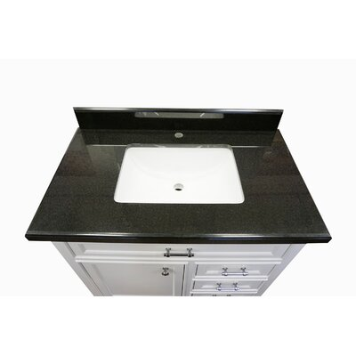 Harkness Modern 36 Single Bathroom Vanity Set Top Finish: Shanxi Black Granite