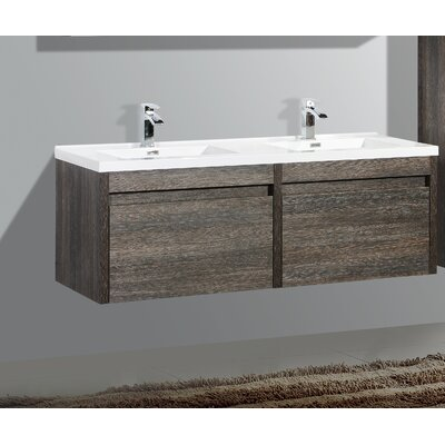 Rosas 59 Double Bathroom Vanity Set Base Finish: Dark Oak