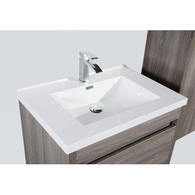 Rosas Modern 30 Single Bathroom Vanity Set Base Finish: Maple Gray