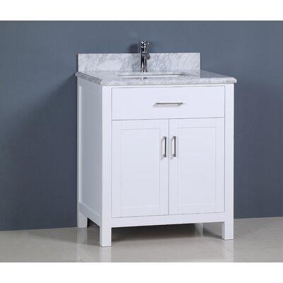 Prestwick Modern 30 Single Bathroom Vanity Set Base Finish: White