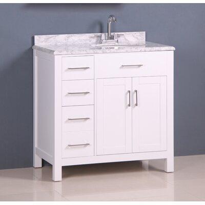 Prestwick Modern 36 Single Bathroom Vanity Set Base Finish: White