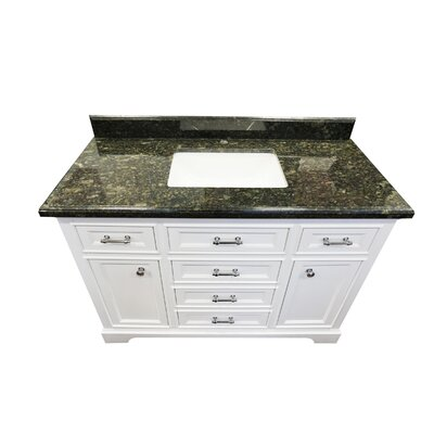 Harkness 48 Bathroom Vanity Set Top Finish: Emerald Granite