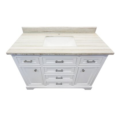 Harkness 48 Bathroom Vanity Set Top Finish: Beachsand Marble