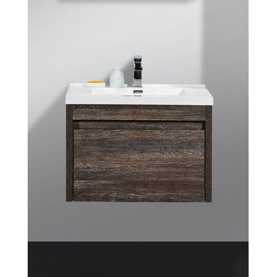 Rosas Modern 30 Single Bathroom Vanity Set Base Finish: Dark Oak