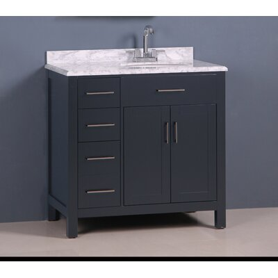 Prestwick Modern 36 Single Bathroom Vanity Set Base Finish: Gray
