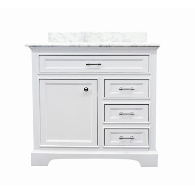 Harkness Modern 36 Single Bathroom Vanity Set Top Finish: Carrera Marble