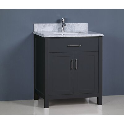 Prestwick Modern 30 Single Bathroom Vanity Set Base Finish: Gray