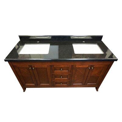Mckenny 60 Double Bathroom Vanity Set Top Finish: Shanxi Black Granite