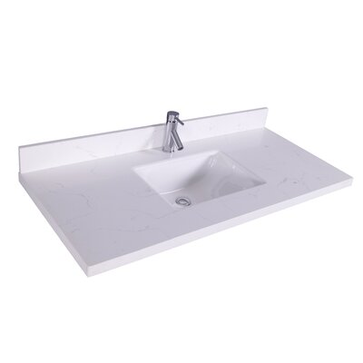 37 Single Bathroom Vanity Top Top Finish: Carrera Quartz