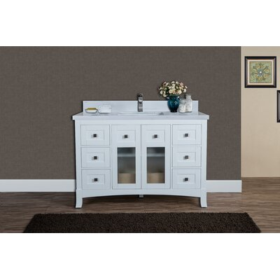 Alexandria 49 Single Bathroom Vanity Set Top Finish: Carrera Quartz