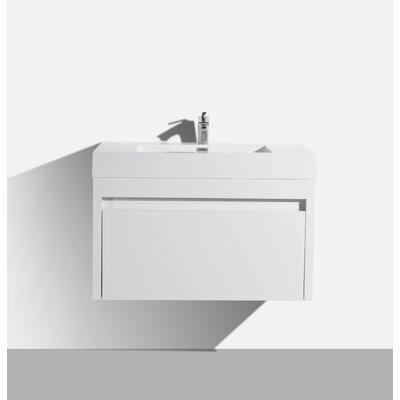 Rosas 25 Single Bathroom Vanity Set Base Finish: White
