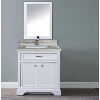 Harkness 30 Single Bathroom Vanity Set Top Finish: Beachsand Marble