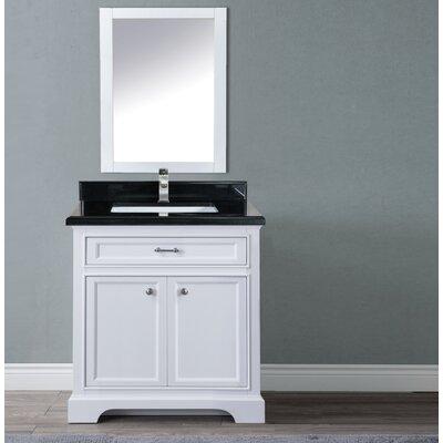 Harkness 30 Single Bathroom Vanity Set Top Finish: Shanxi Black Granite