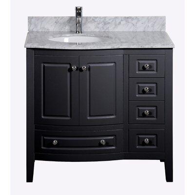 Porto 36 Single Bathroom Vanity Set Base Finish: Black