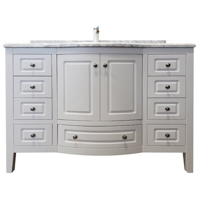 Porto 48 Single Bathroom Vanity Set Base Finish: White