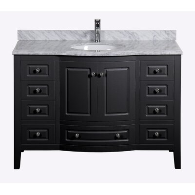 Porto 48 Single Bathroom Vanity Set Base Finish: Black