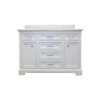 Harkness 48 Bathroom Vanity Set Top Finish: Carrera Quartz