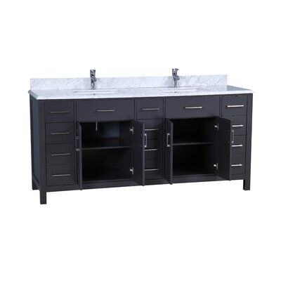 Prestwick Modern 72 Double Bathroom Vanity Set Base Finish: Gray