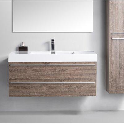 47 Single Bathroom Vanity Set Base Finish: Soft Oak