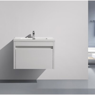 Rosas Modern 24 Single Bathroom Vanity Set Base Finish: White