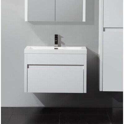 Rosas Modern 30 Single Bathroom Vanity Set Base Finish: White