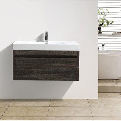 Rosas 25 Single Bathroom Vanity Set Base Finish: Dark Oak