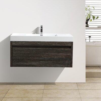 Rosas 47 Single Bathroom Vanity Set Base Finish: Dark Oak