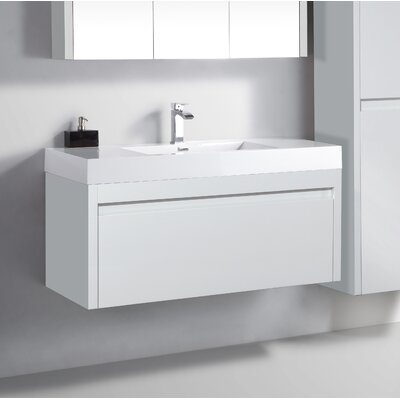 Rosas 47 Single Bathroom Vanity Set Base Finish: White
