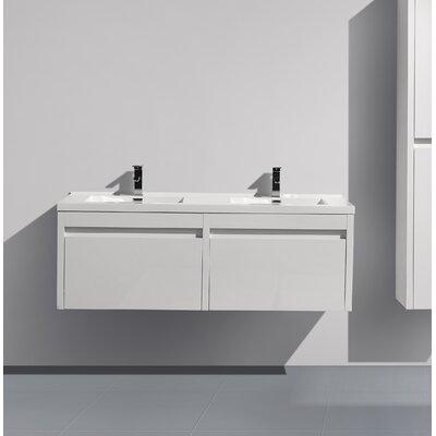 Rosas 59 Double Bathroom Vanity Set Base Finish: White