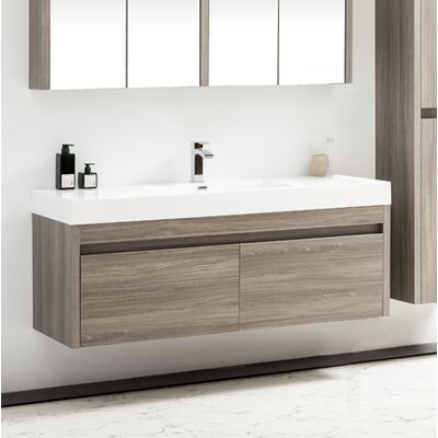 Rosas 59 Single Bathroom Vanity Set Base Finish: Maple Gray