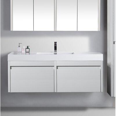 Rosas 59 Single Bathroom Vanity Set Base Finish: White