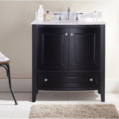 Porto 30 Single Bathroom Vanity Set Base Finish: Brown