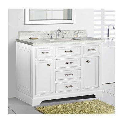 Harkness 48 Bathroom Vanity Set Top Finish: Carrera Marble