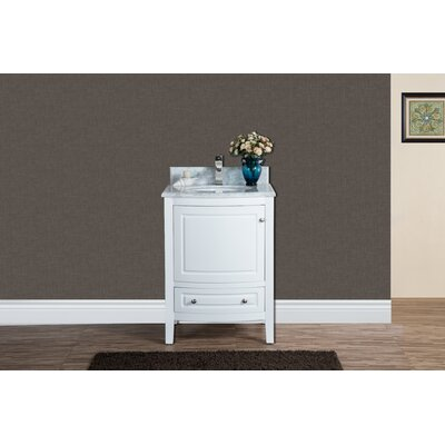 Porto 24 Single Bathroom Vanity Set Base Finish: White
