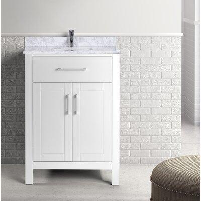 Prestwick 24 Single Bathroom Vanity Set Base Finish: White