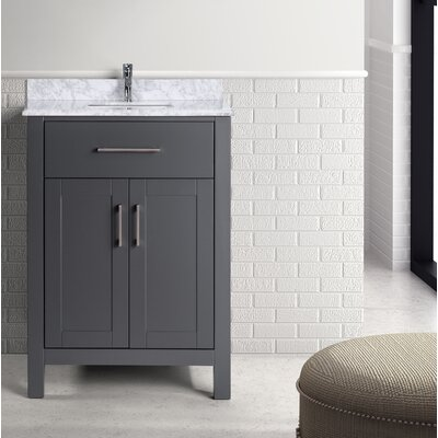 Prestwick 24 Single Bathroom Vanity Set Base Finish: Gray