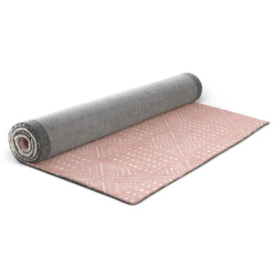Pink/White Area Rug Rug Size: Rectangle 2 x 3