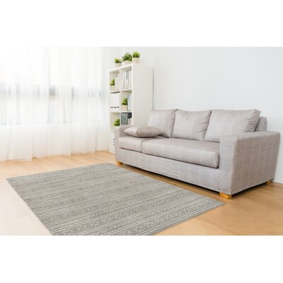 Gray Area Rug Rug Size: Rectangle 5 x 7