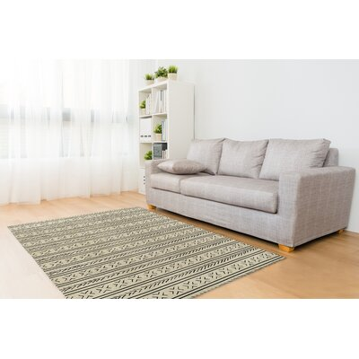 Ivory/Black Area Rug Rug Size: Rectangle 2 x 3