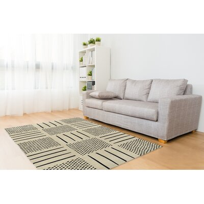 Global Ivory/Black Area Rug Rug Size: Rectangle 5 x 7