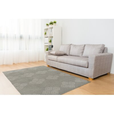 Gray/White Area Rug Rug Size: Rectangle 5 x 7