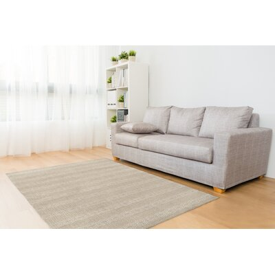 Cream/White Area Rug Rug Size: Rectangle 5 x 7