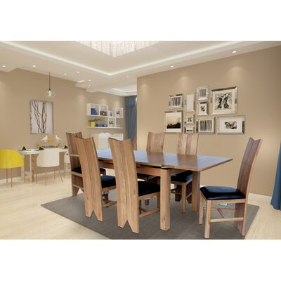 Chilewich 7 Piece Dining Set Color: Natural Oak
