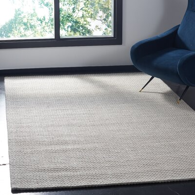 Alberta Hand Tufted Wool Beige Area Rug� Rug Size: Square 6