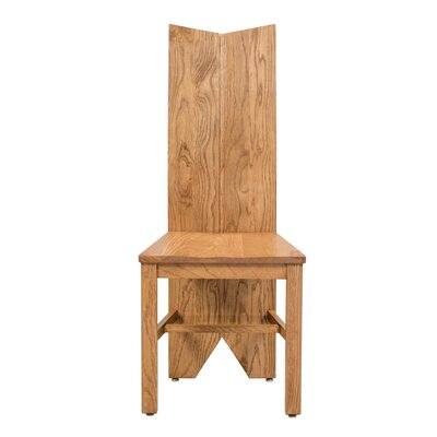 Alicia Solid Wood Dining Chair Color: Light Dark Oak