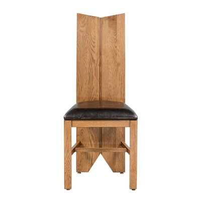Alicia Upholstered Dining Chair Frame Color: Light Dark Oak