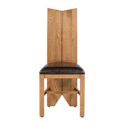 Alicia Upholstered Dining Chair Frame Color: Light Dark Oak
