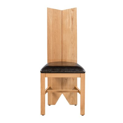Alicia Upholstered Dining Chair Frame Color: Natural Oak